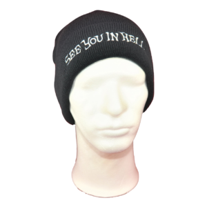 SEE YOU IN HELL – ohrnovací kulich / turn-up (cuffed) beanie