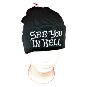 SEE YOU IN HELL – ohrnovací kulich / turn-up (cuffed) beanie (02)